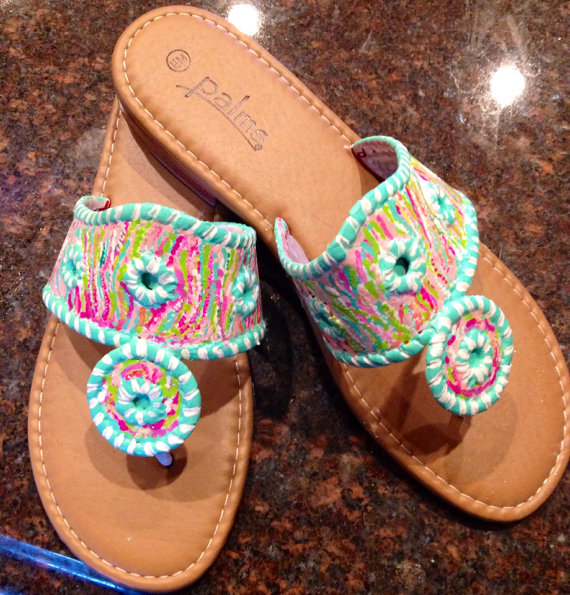 LuckyLeaf has a ton of cute sandals that are Jack Rogers and Lilly inspired! The shop has great reviews on the sandals!
